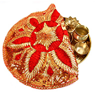 Designer Puja Thali cloth Covers - I