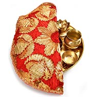 Designer Puja Thali cloth Covers - II