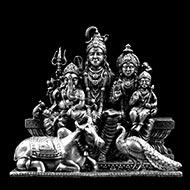 Designer Shiv Parivar in pure silver
