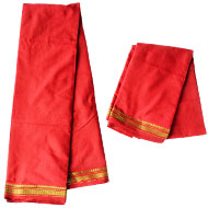 Puja Dhoti with Shawl - Red