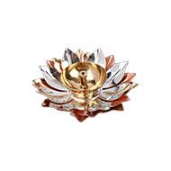 Divine Lotus oil lamp in brass