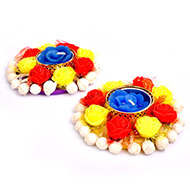 Diwali Designer Lamp - Wax - Set of 2 - Design I
