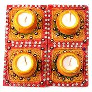 Diwali Earthen Diyas-Set of 4