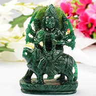 Durga in Green Jade - 331 gms