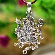 Durga Locket in pure silver - Design I