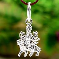 Durga Locket in pure silver - Design III