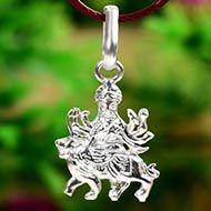 Durga Locket in pure silver - Design IV