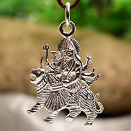 Durga Locket - in Pure Silver - Design VII