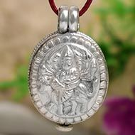 Durga Locket in Pure Silver - Design VIII