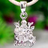 Durga Locket in pure silver - Design XIX