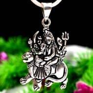 Durga Locket in pure silver - Design XV