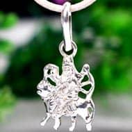 Durga Locket in pure silver - Design XVI