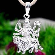 Durga Locket in pure silver - Design XVII