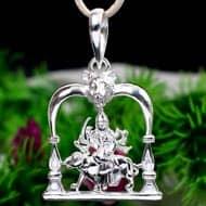 Durga Locket in pure silver - Design XVIII