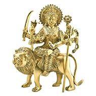 Durga Maa Sherawali in brass - Design III