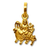 Durga Pendant in pure Gold - Design II