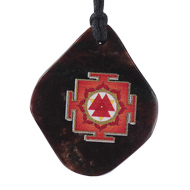 Durga Yantra Pendant on Gomed