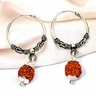 Earrings made of 5 Mukhi Rudraksha Beads