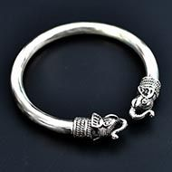 Elephant Headed Kada in Pure silver - I