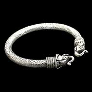 Elephant Headed Kada in Pure silver - III