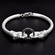 Elephant Headed Kada in Pure silver