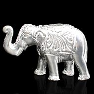 Elephant Idol in pure silver - I