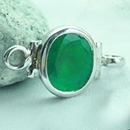Emerald bracelet in pure silver