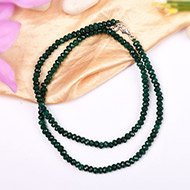 Emerald faceted bead Necklace