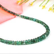 Emerald faceted necklace - 3mm to 5mm