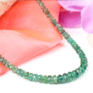 Emerald faceted necklace - 4mm to 6mm