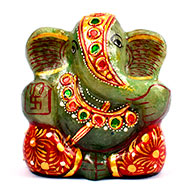 Excotic Ganesha in Light Green Jade - 114  gm..