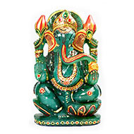 Exotic Ganesh Idol in Green Jade - 1.886 Kgs