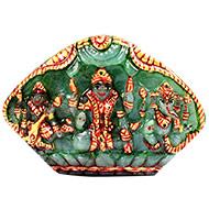 Exotic Laxmi Ganesh Sarawati Idols in Emerald