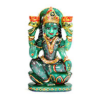 Exotic Laxmi in Green Jade - 1.156 Kgs