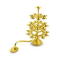 Festival of lights lamp in brass