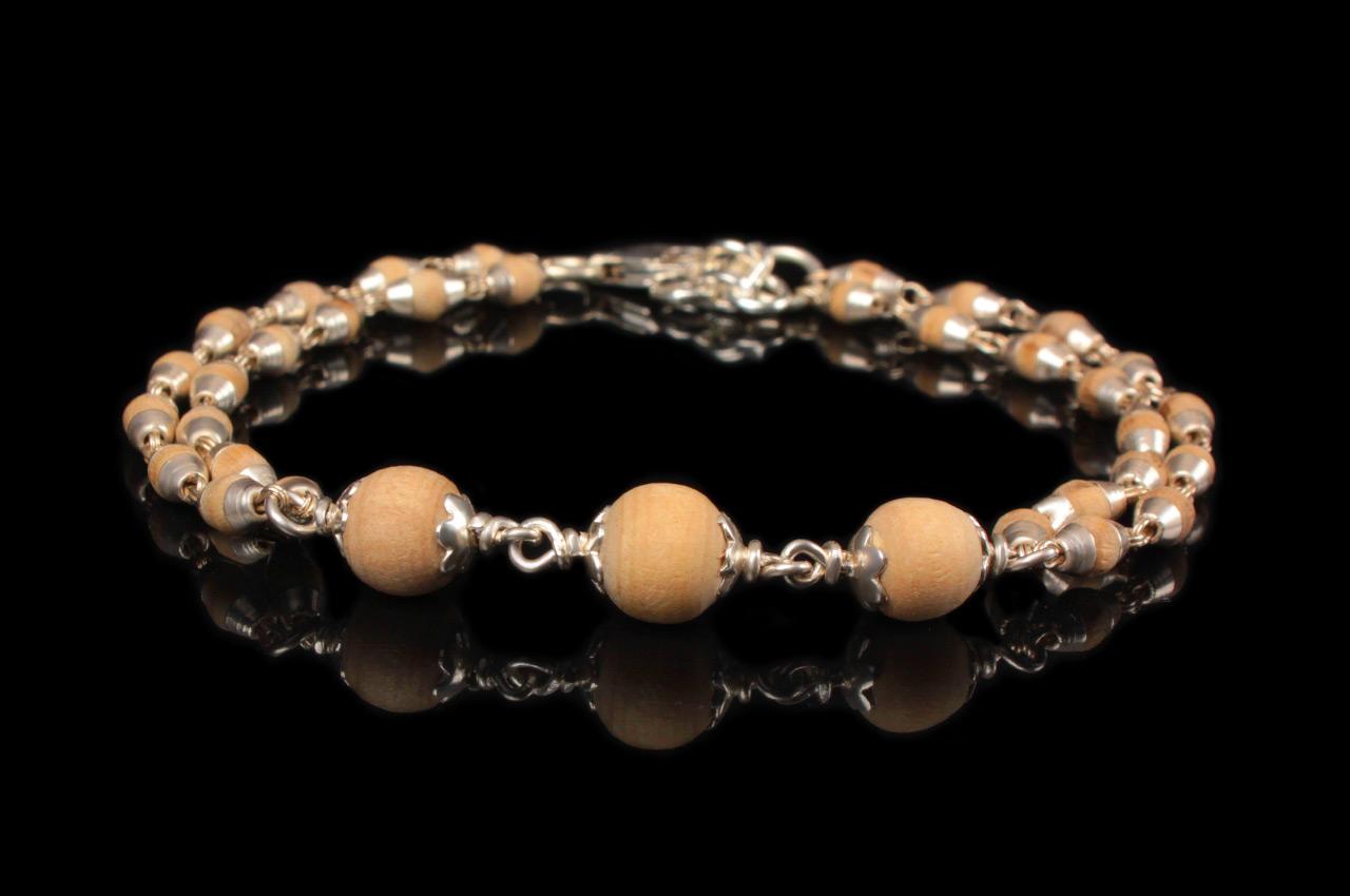 Purity Bracelet in White Tulsi Beads