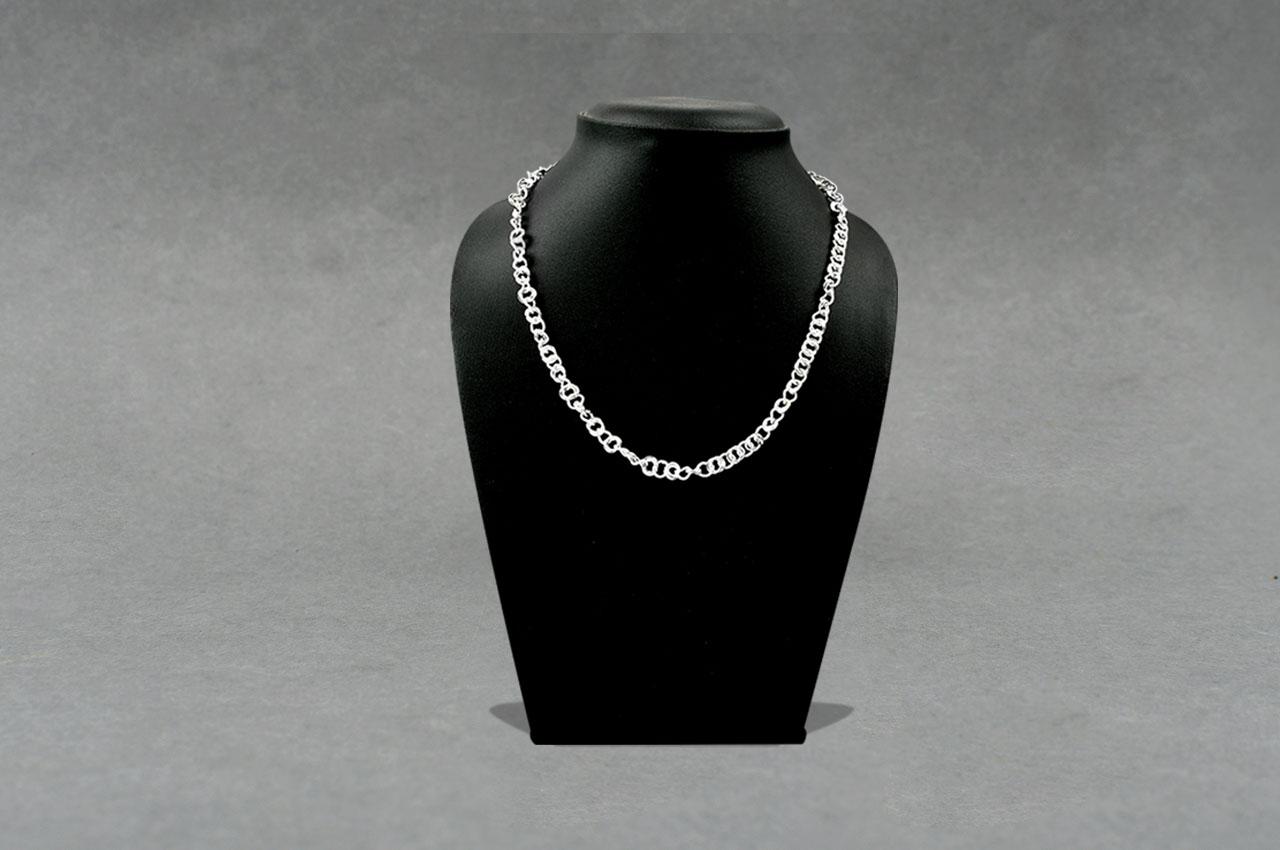 Silver designer loop chain