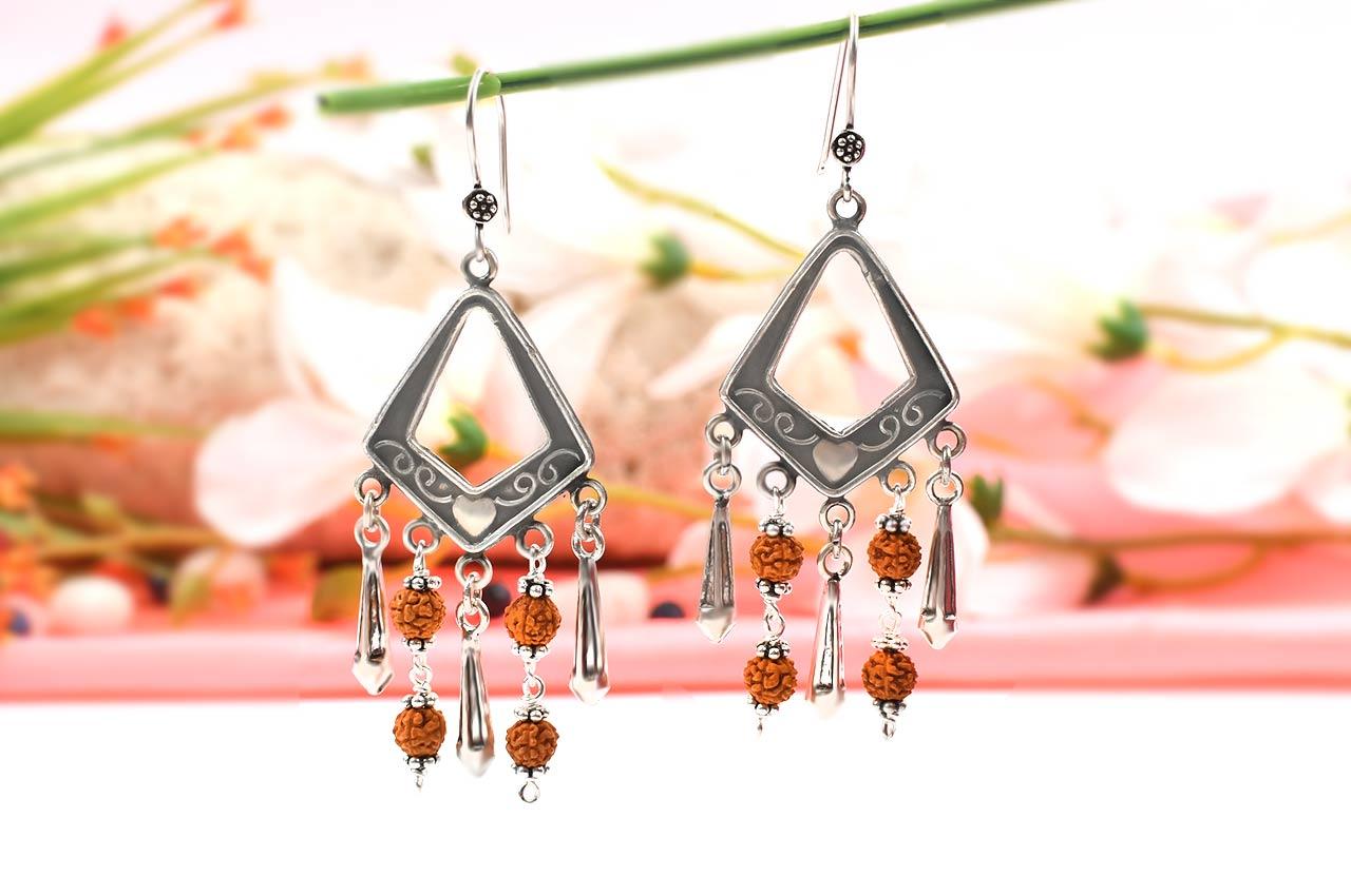 Rudraksha earring - Design II