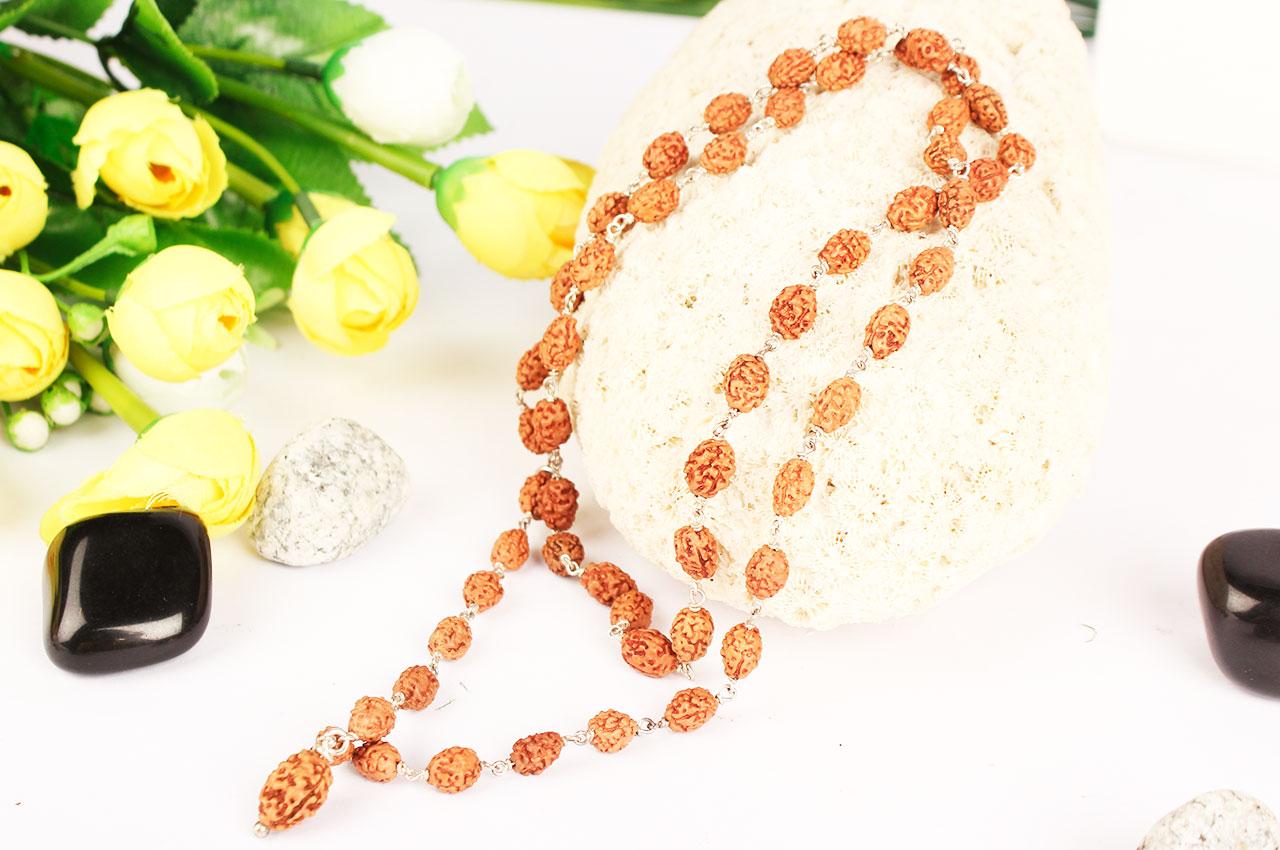 3 mukhi Agni mala in silver wire
