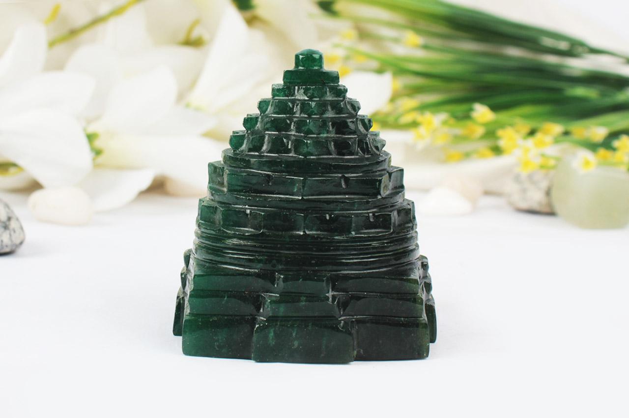 Green Jade shree Yantra - 206 gms