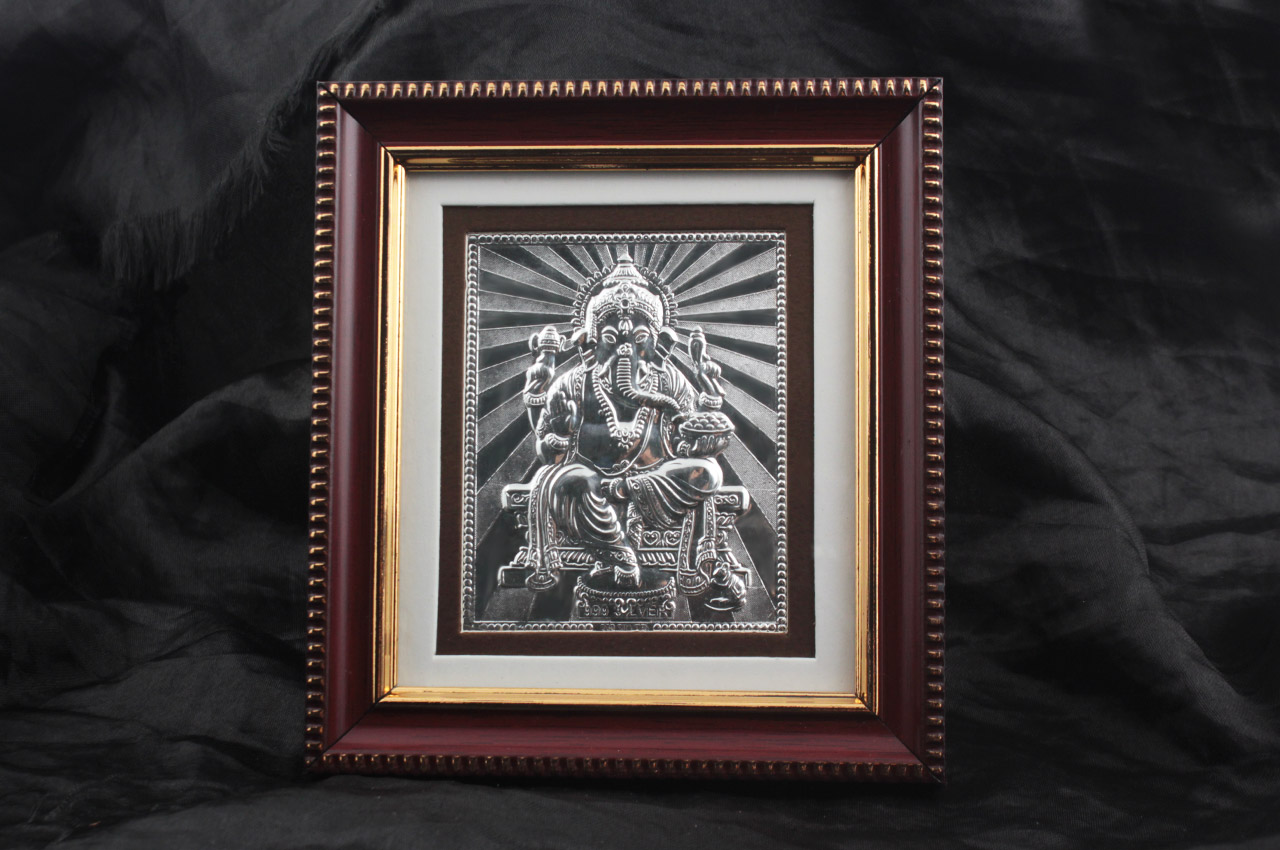 Lord Ganesh in  silver