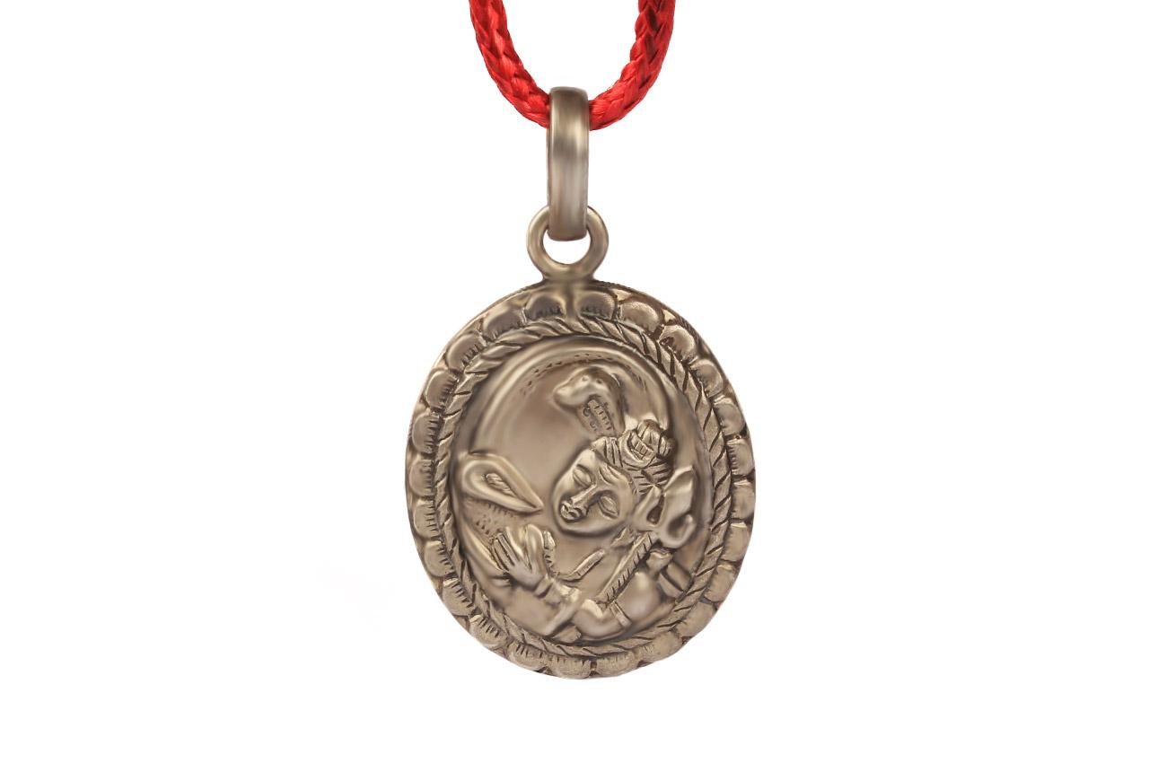 Shiva Locket in Pure Silver - Design III
