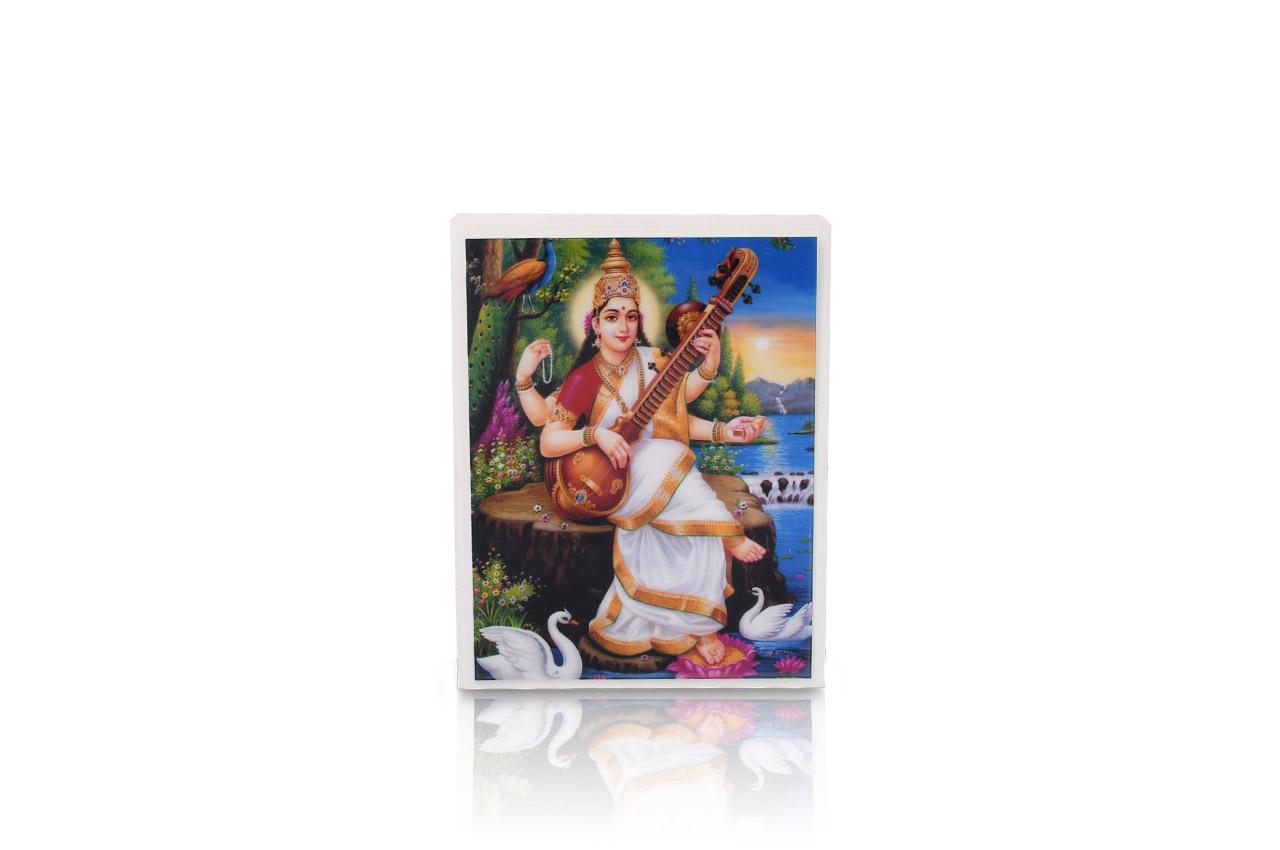 Maa Saraswati Glittering Photo
