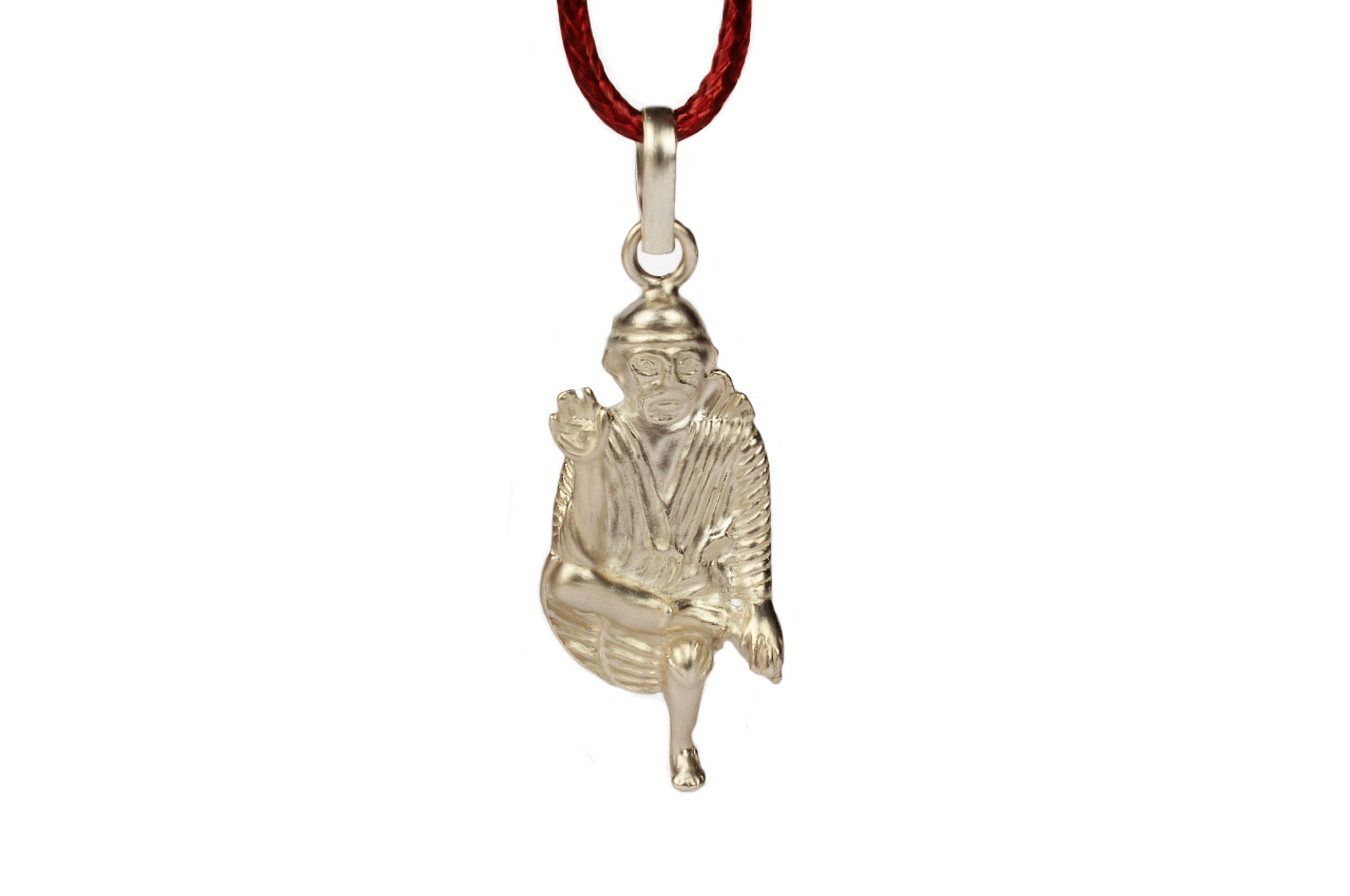 Saibaba Locket in Pure Silver - Design V