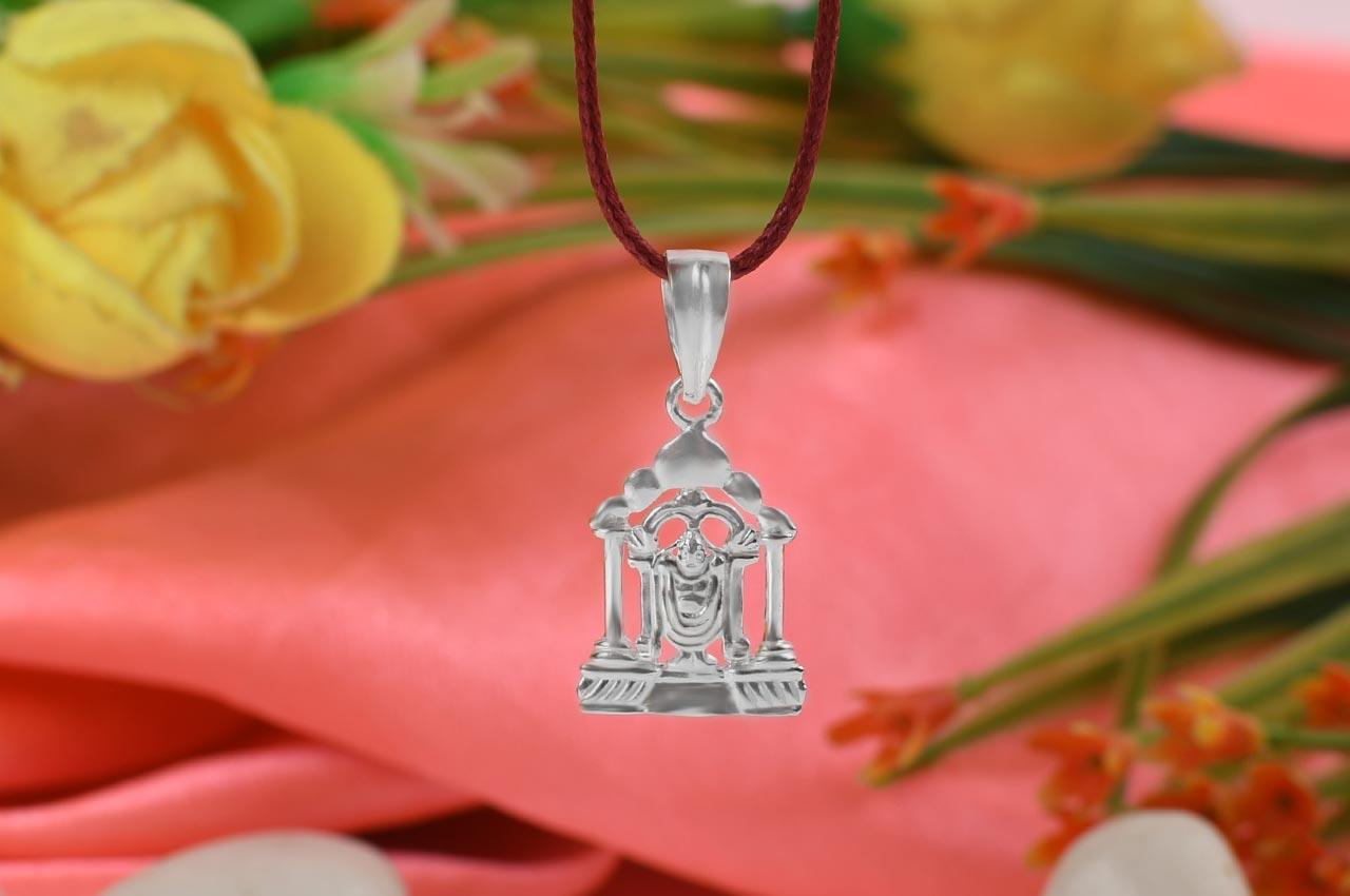 Tirupati Balaji Locket in Pure Silver - I