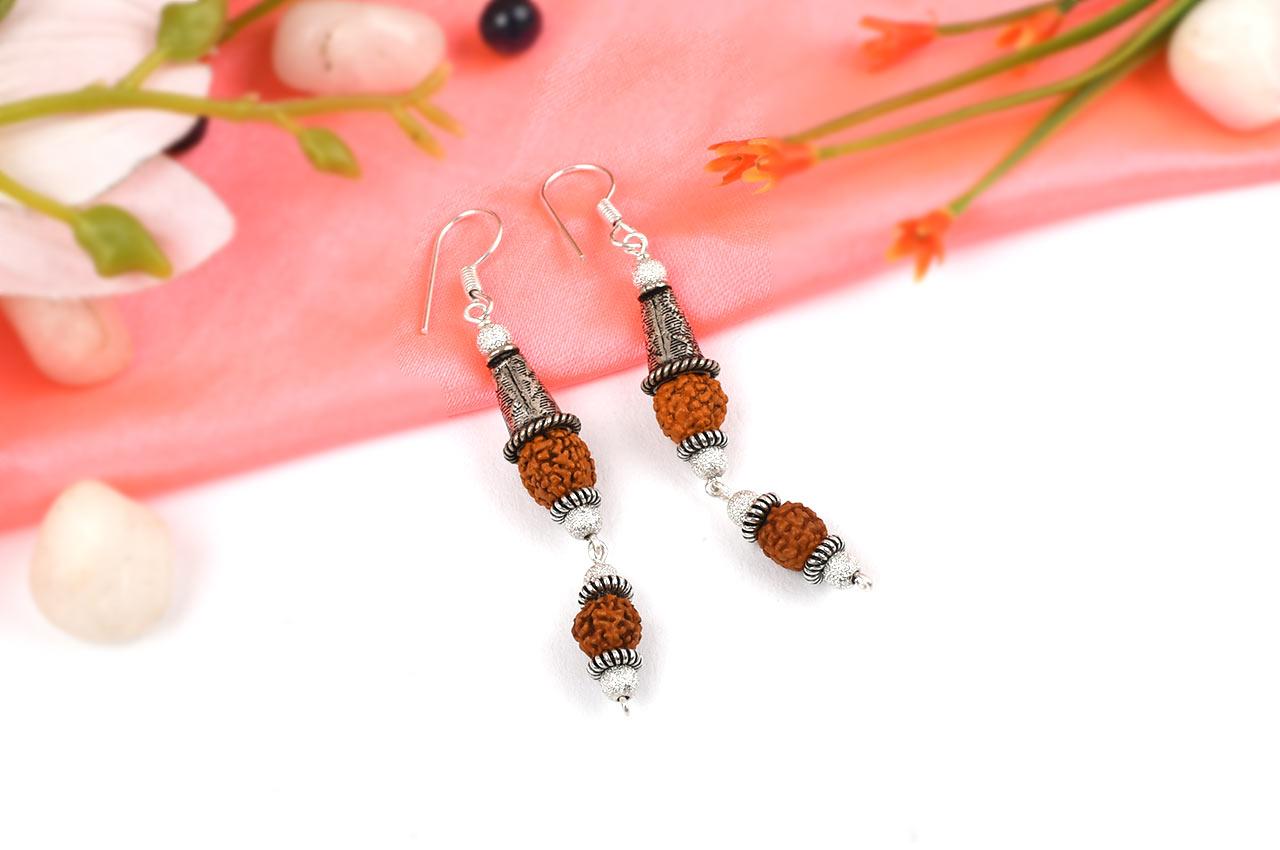 Rudraksha earring - Design V