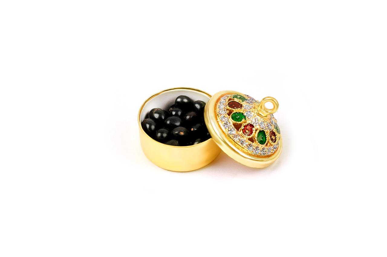 Black Chirmi beads box