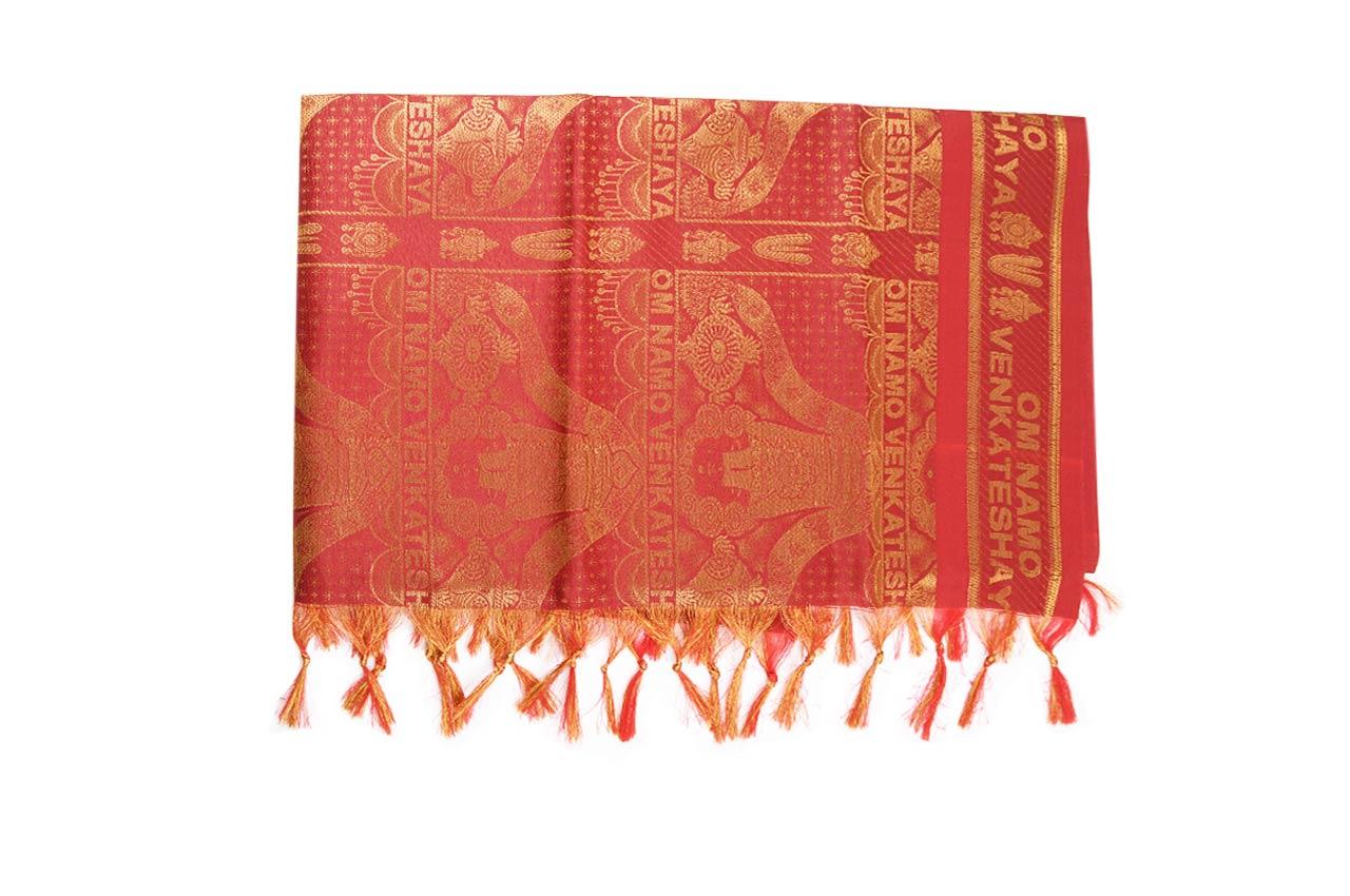 Om Venkateshaya Shawl in Art Silk