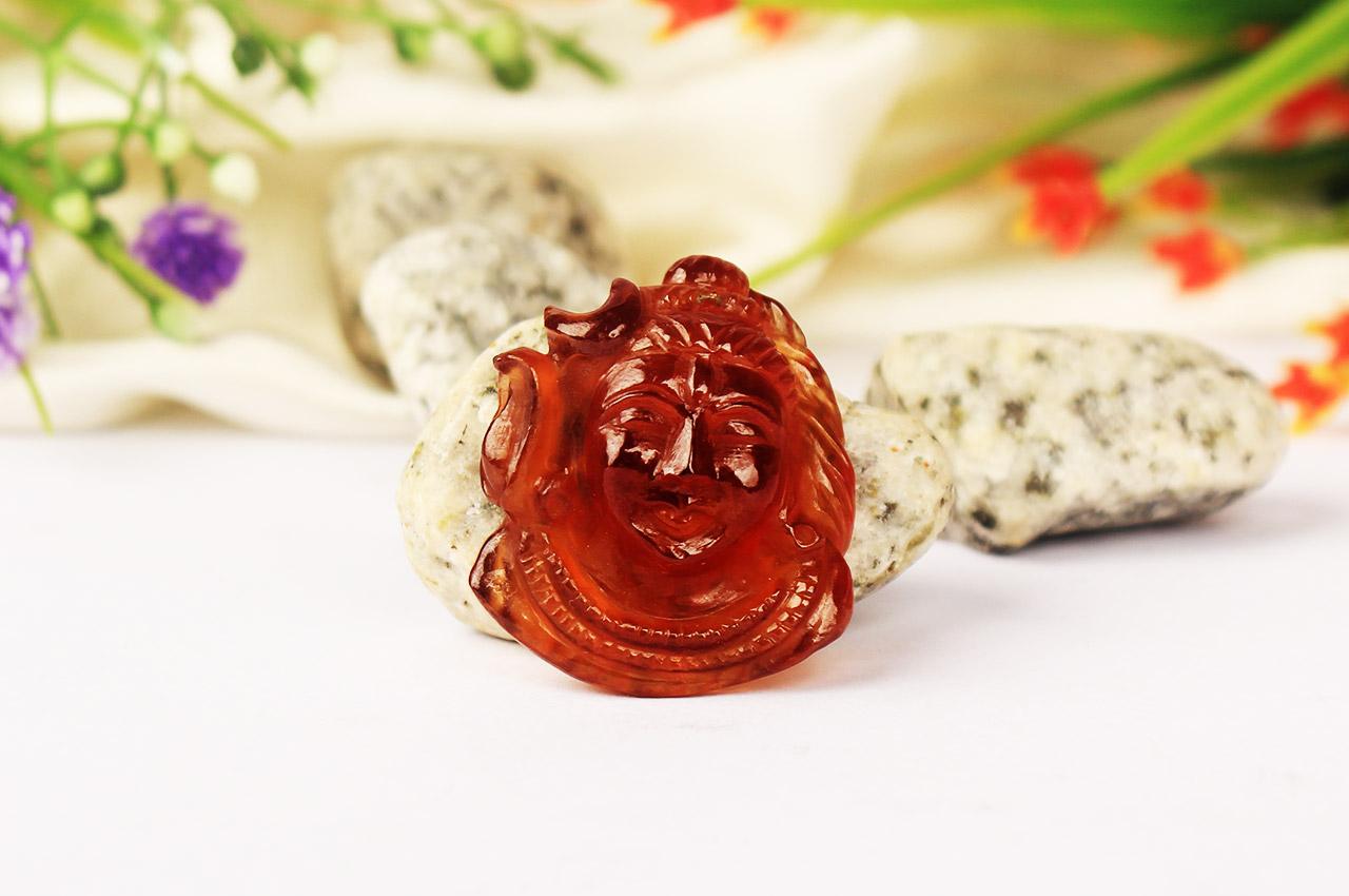 Shiva in Gomed - 52.25 carat