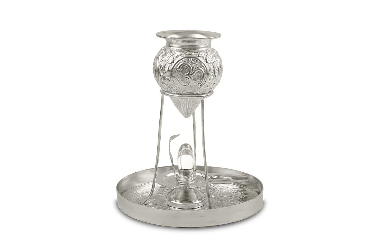 Abhishekam Set with Shivling - German Silver